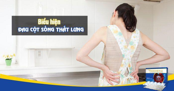 Biểu hiện đau cột sống thắt lưng