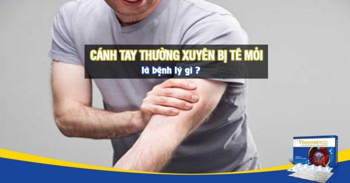 Cánh tay bị tê mỏi thường xuyên