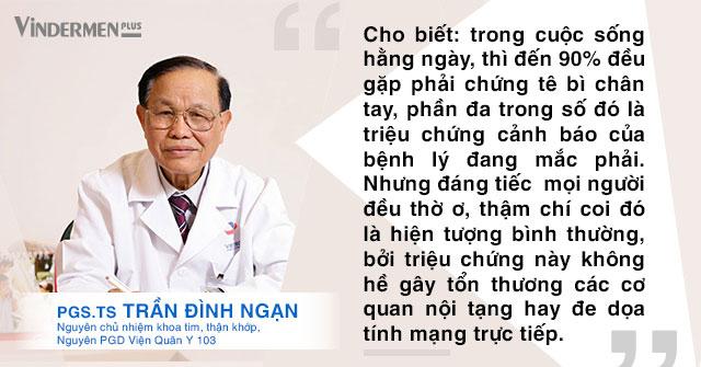 PGS.Ts Trần Đình Ngạn nói về Tê bì chân tay